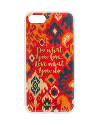 Shop Chumbak iPhone 8/SE Do What You Love Ikkat Mobile Cover-Front