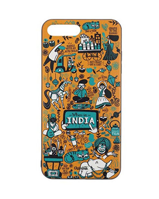 Shop Chumbak iPhone 7 Plus When In India Mobile Cover-Front