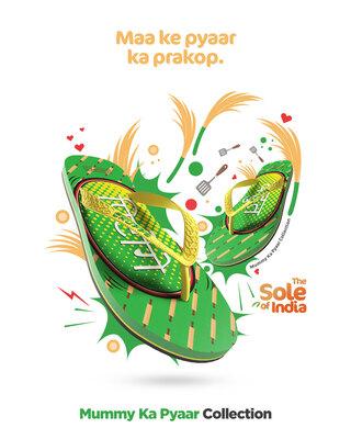 Shop Chupps Men's Mummy Ka Pyaar Green Flip Flops-Front