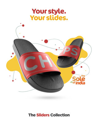 Shop Chupps Men's Red Sliders-Front