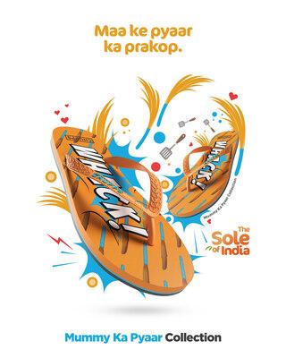 Shop Chupps Women's Mummy Ka Pyaar Orange Flip Flops-Front