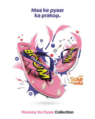 Shop Chupps Women's Mummy Ka Pyaar Pink Flip Flops-Front