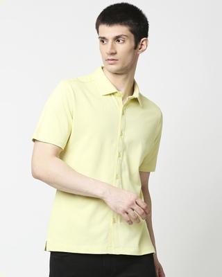 Shop Citron Solid Half Sleeve Shirt-Front
