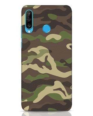 Shop Classic Camo Huawei P30 Lite Mobile Cover-Front