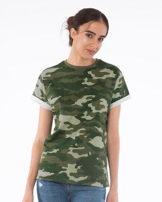 Shop Classic Camouflage Boyfriend T-Shirt-Front