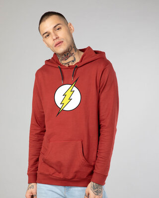 Shop Classic Flash Logo Fleece Hoodie (FL)-Front
