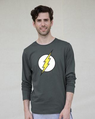 Shop Classic Flash Logo Full Sleeve T-Shirt (FL)-Front