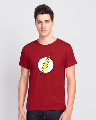 Shop Classic Flash Logo Half Sleeve T-Shirt (FL)-Front