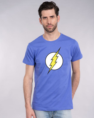 Shop Classic Flash Logo Half Sleeve T-Shirt (FL)-Front