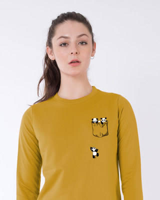Shop Climbing Pocket Panda Fleece Sweater-Front