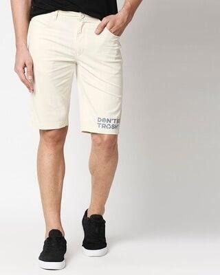 Shop Cloud Cream Twill Shorts-Front
