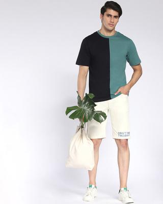 Shop Cloud Cream Men's Twill Shorts-Front