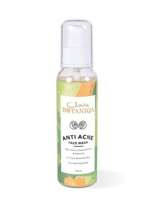 Shop Clovia Botaniqa Anti-Acne/Pimples Natural Face Wash (Ayurvedic) Tea Tree, Clove Oil & Vit E 120 ml-Front
