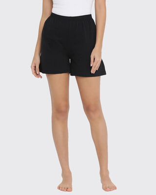 Shop Clovia Boxer Shorts in Black-Front