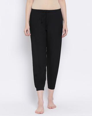 Shop Clovia Chic Basic Pyjama in Black-Front