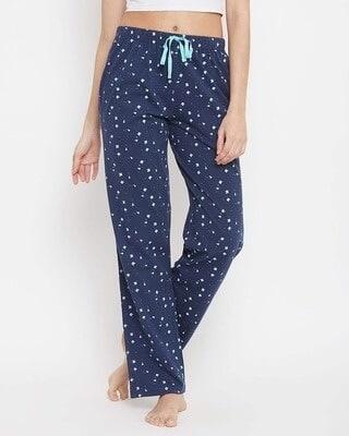 Shop Clovia Cotton Printed Pyjama Pants-Front