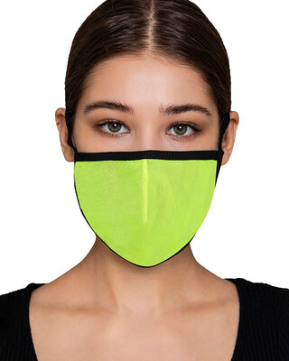 Shop Clovia Reusable 3 Ply Face Mask in Light Green-Front