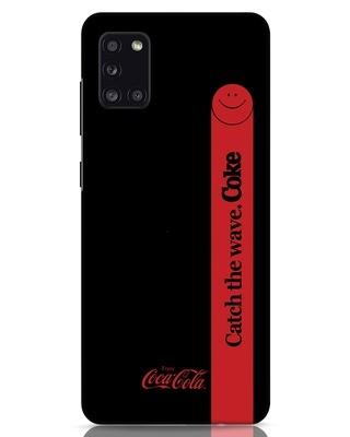 Shop Coca-Cola Black Catch The Coke Samsung Galaxy A31 Mobile Cover-Front