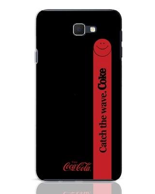 Shop Coca-Cola Black Catch The Coke Samsung Galaxy J7 Prime Mobile Cover-Front