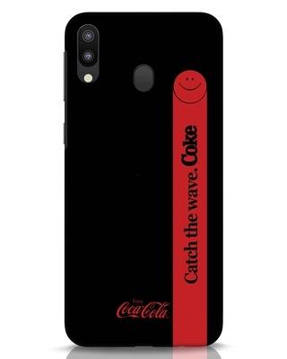 Shop Coca-Cola Black Catch The Coke Samsung Galaxy M20 Mobile Cover-Front