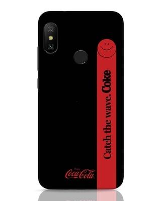 Shop Coca-Cola Black Catch The Coke Xiaomi Redmi 6 Pro Mobile Cover-Front