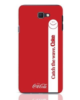 Shop Coca-Cola Catch The Coke White Samsung Galaxy J7 Prime Mobile Cover-Front