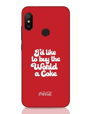 Shop Coca-Cola I Would Like To Buy Xiaomi Redmi 6 Pro Mobile Cover-Front