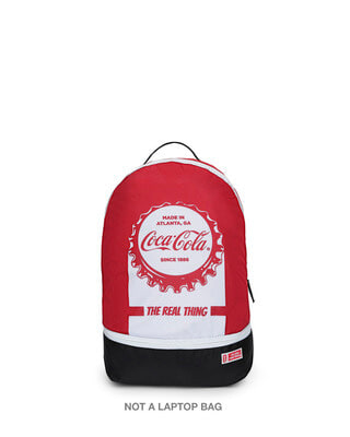 Shop Coca Cola Printed Small Backpacks-Front