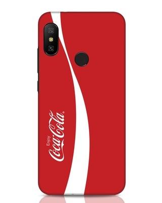 Shop Coca-Cola Ribbon Xiaomi Redmi Note 6 Pro Mobile Cover-Front