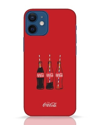 Shop Coca-Cola Three Bottle iPhone 12 Mini Mobile Cover-Front