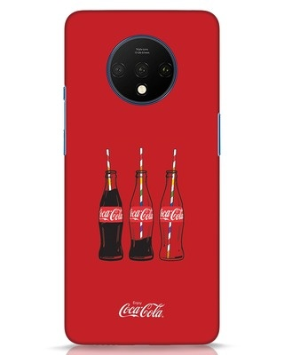 Shop Coca-Cola Three Bottle OnePlus 7T Mobile Cover-Front