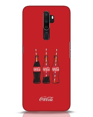 Shop Coca-Cola Three Bottle Oppo A5 2020 Mobile Cover-Front
