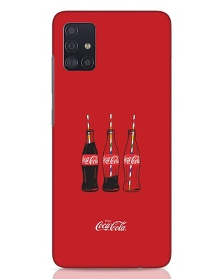 Shop Coca-Cola Three Bottle Samsung Galaxy A51 Mobile Cover-Front