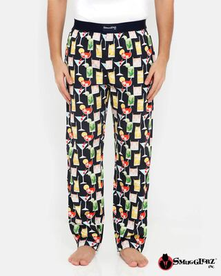 Shop Smugglerz Cocktails Pyjamas Black-Front