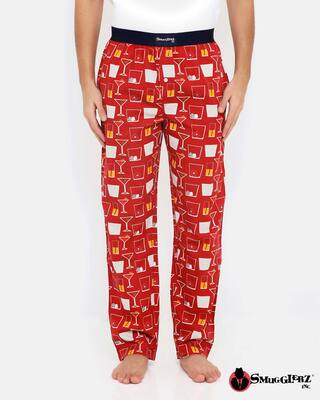 Shop Smugglerz Cocktails Pyjamas Red-Front