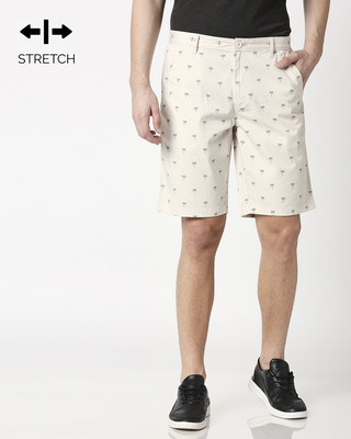 Shop Coconut Trees Off White Men's Shorts-Front
