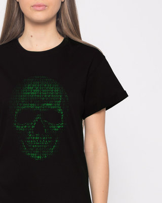 Shop Code Till You Die Boyfriend T-Shirt-Front
