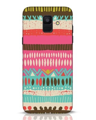 Shop Color Pile Samsung Galaxy A6 2018 Mobile Cover-Front