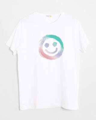 Buy Color Smiley Half Sleeve T-Shirt Online India @ Bewakoof.com