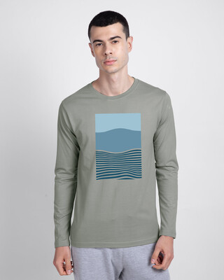 Shop Color Wave Full Sleeve T-Shirt-Front