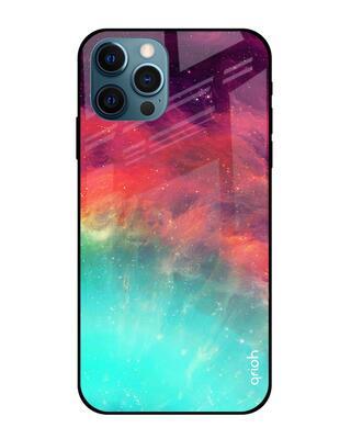 Shop Qrioh Colorful Aura Glass Case for iPhone 12 Pro Max-Front
