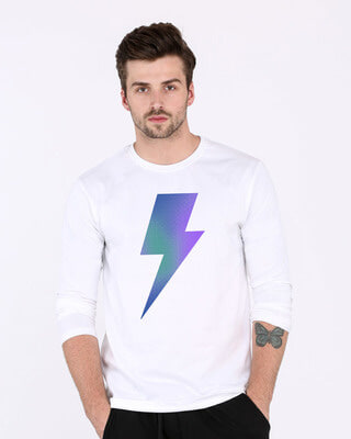 Shop Colorful Bolt Full Sleeve T-Shirt-Front