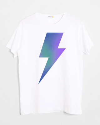 Shop Colorful Bolt Half Sleeve T-Shirt-Front