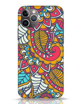 Shop Colorful Floral Pattern iPhone 11 Pro Mobile Cover-Front