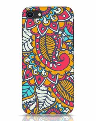 Shop Colorful Floral Pattern iPhone SE 2020 Mobile Cover-Front