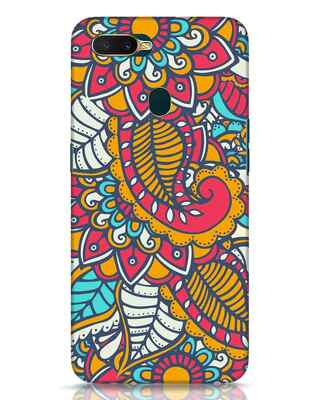 Shop Colorful Floral Pattern Oppo A7 Mobile Cover-Front