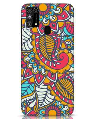 Shop Colorful Floral Pattern Samsung Galaxy M31 Mobile Cover-Front