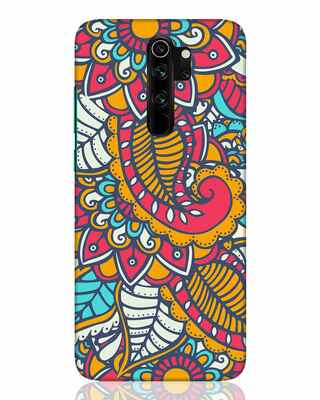 Shop Colorful Floral Pattern Xiaomi Redmi Note 8 Pro Mobile Cover-Front