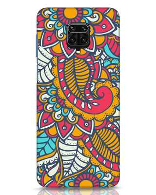 Shop Colorful Floral Pattern Xiaomi Redmi Note 9 Pro Max Mobile Cover-Front