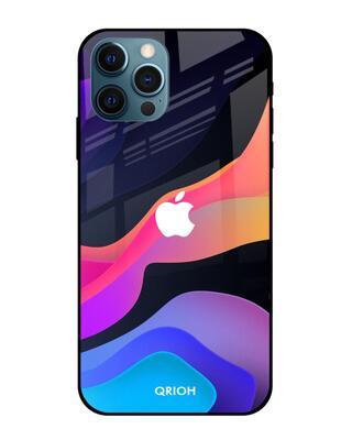 Shop Qrioh Colorful Fluid Glass Case for iPhone 12 Pro Max-Front